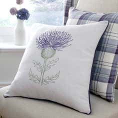 Mauve Balmoral Collection Thistle Cushion