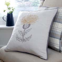 Ochre Balmoral Collection Thistle Cushion