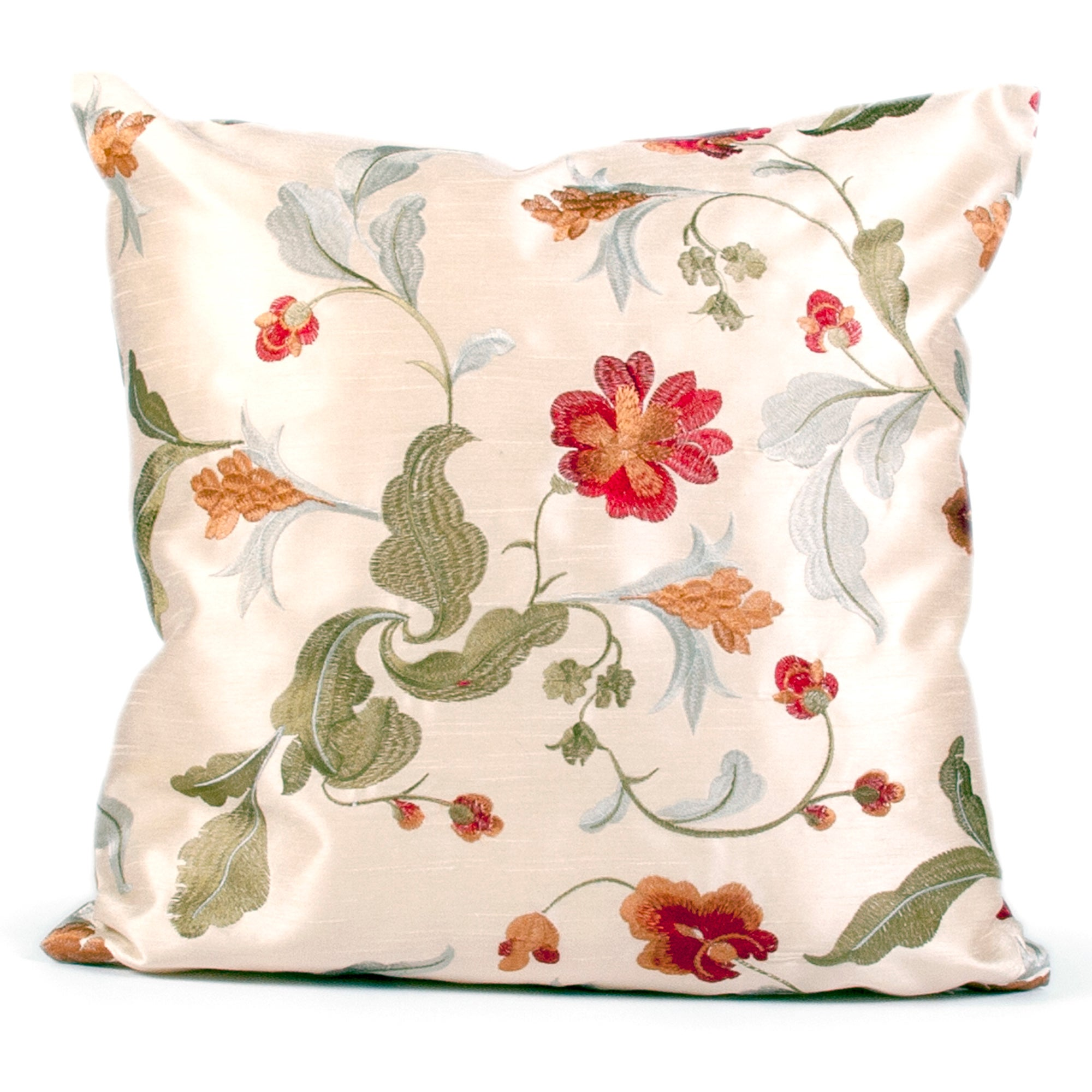 Adrianna Embroided Floral Cushion