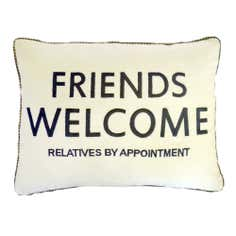 Friends Welcome Boudoir Cushion