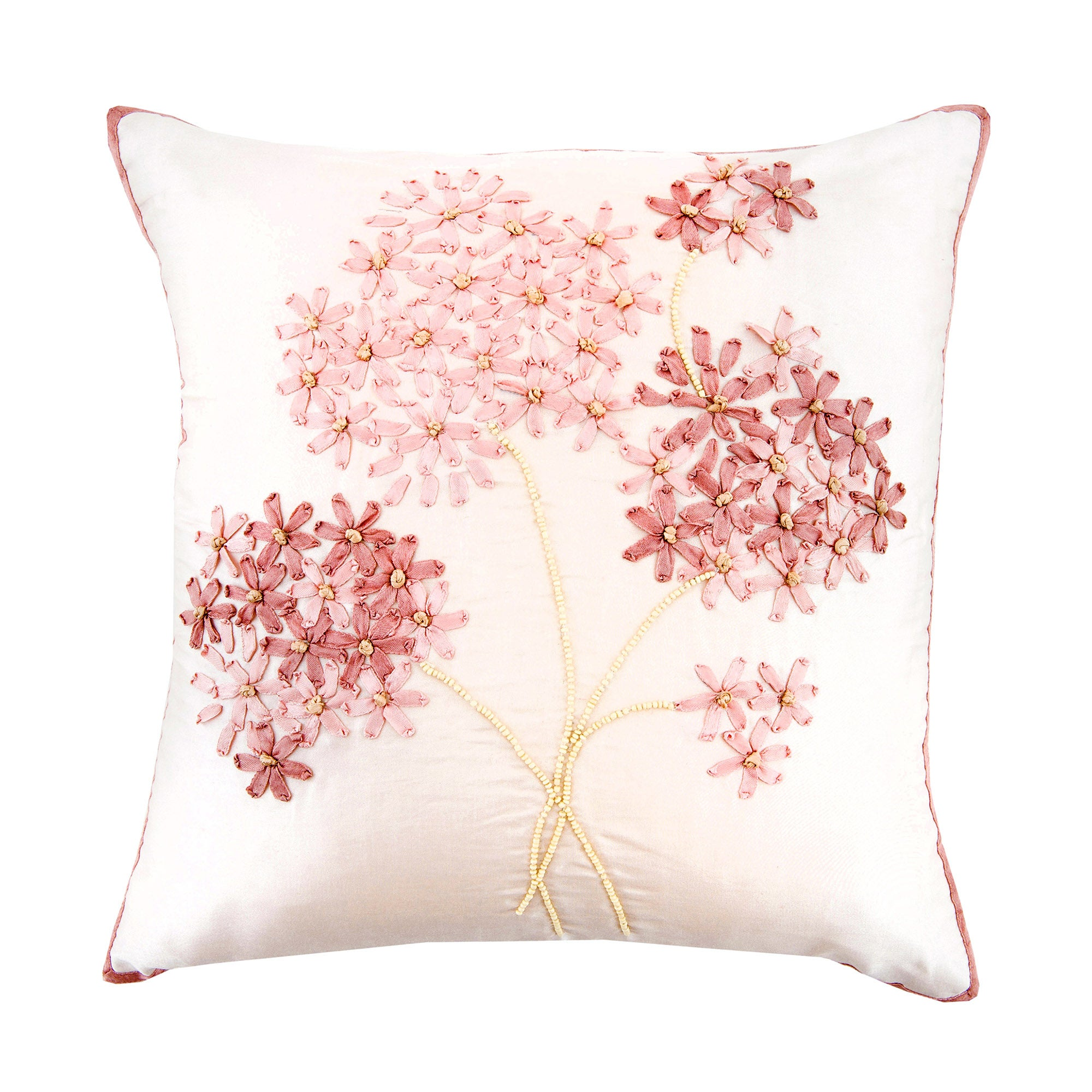 Blush Hydrangea Cushion