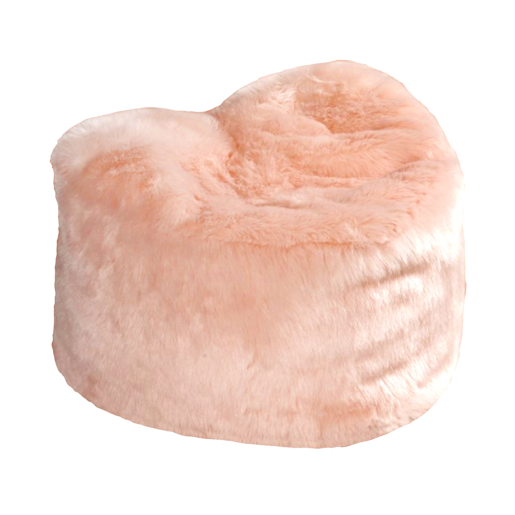 Kids Faux Fur Heart Bean Bag