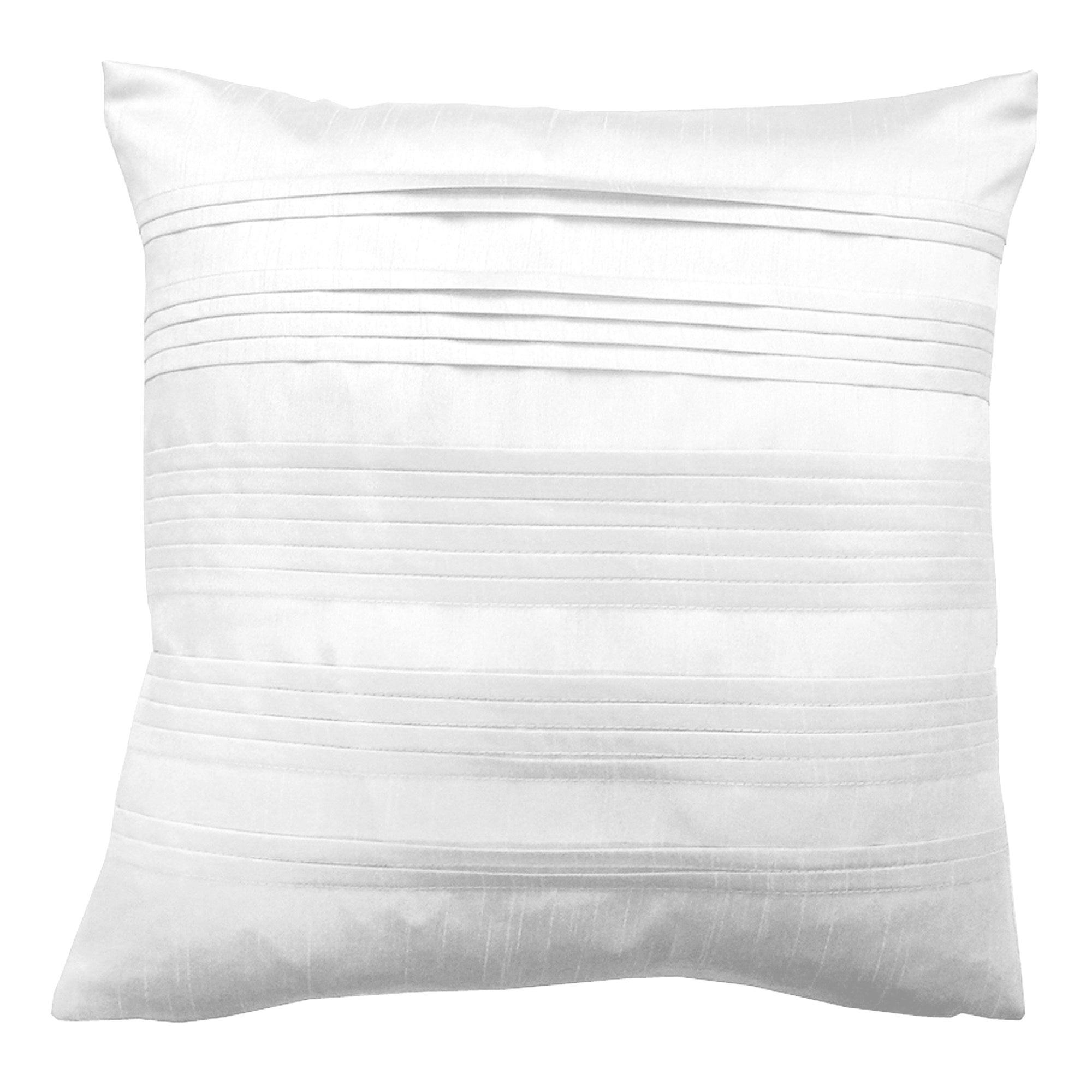 Pleated Faux Silk Cushion