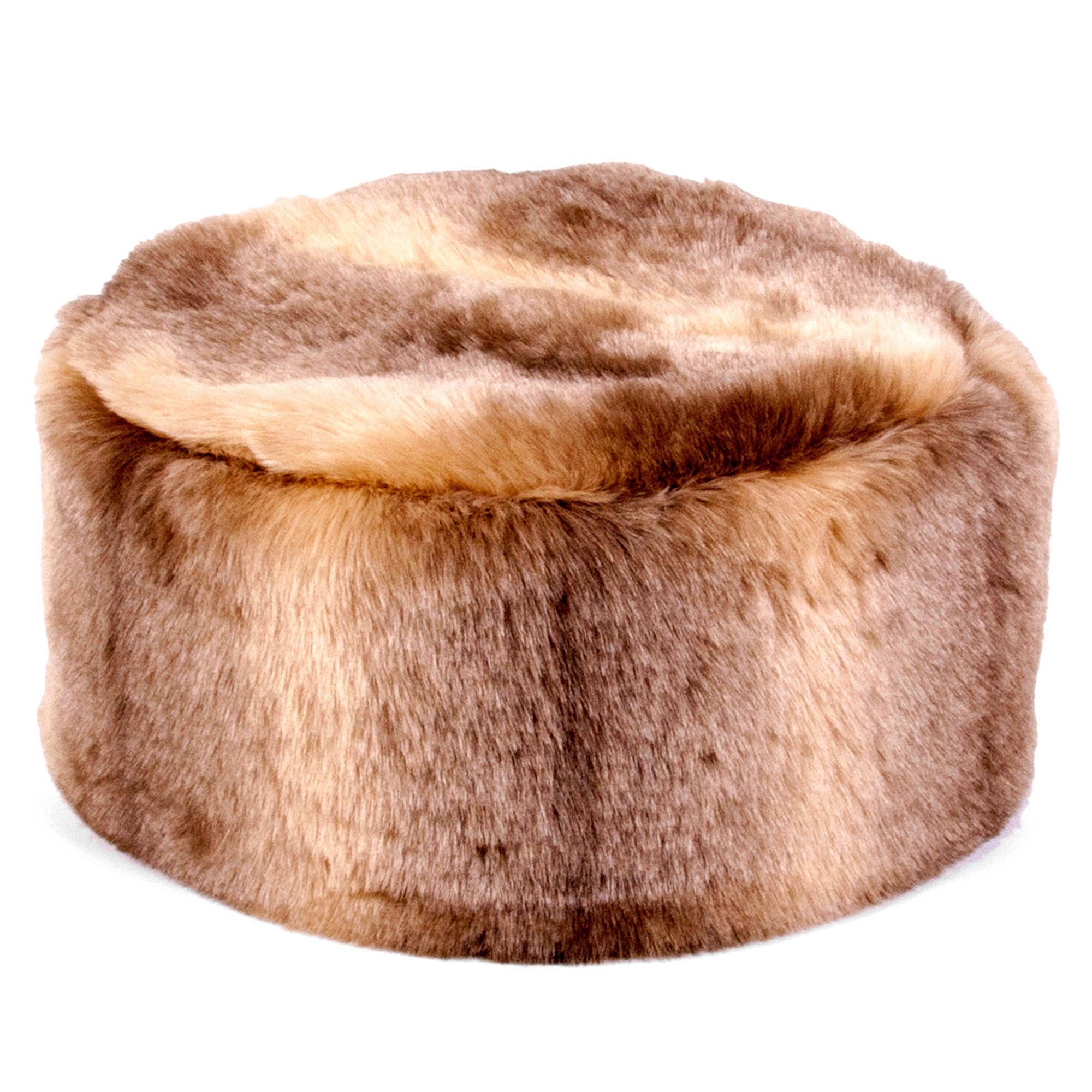 Pure Luxury Faux Fur Drum Bean Bag