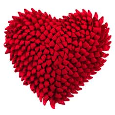 Red Ruffled Heart Cushion