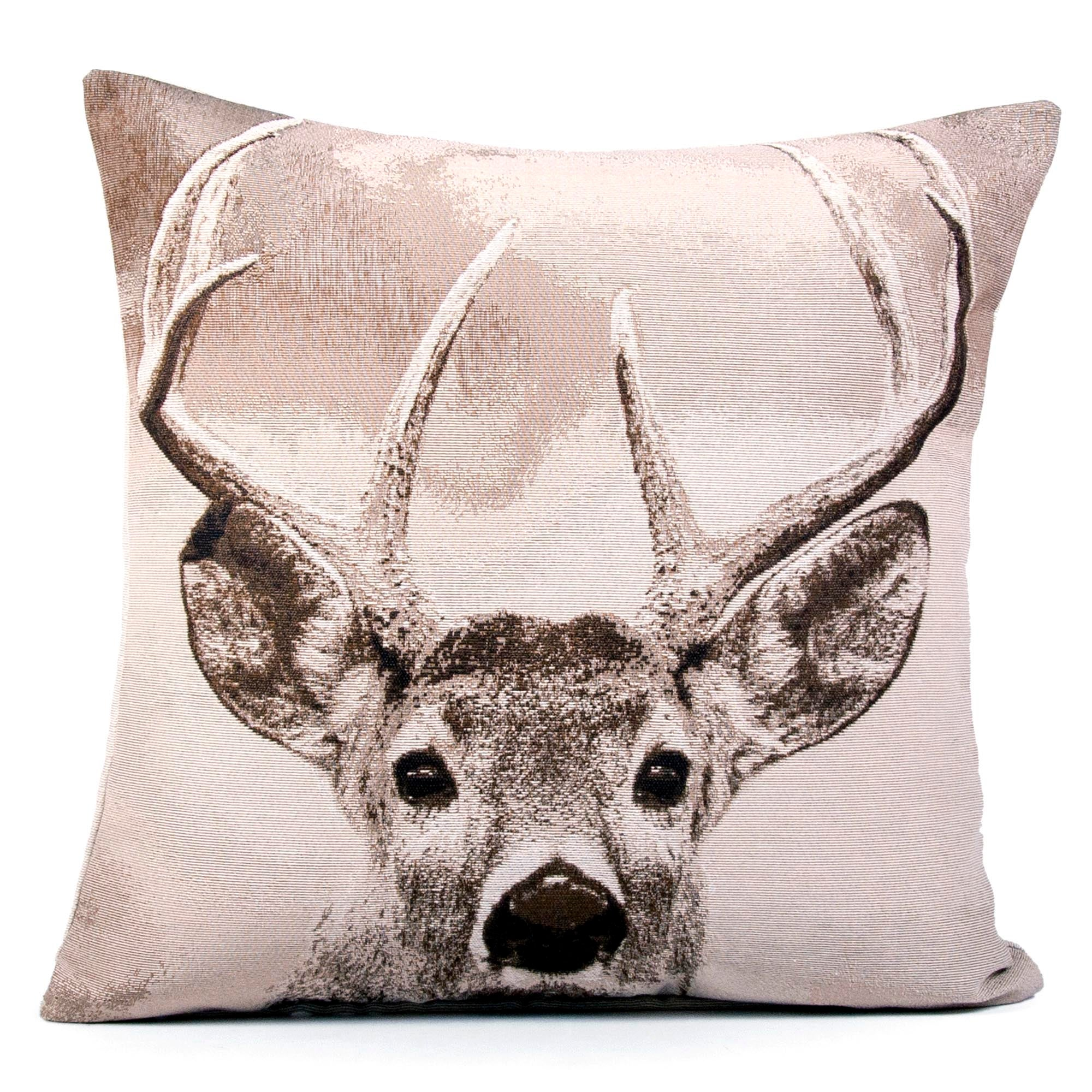 Stag Tapestry Cushion