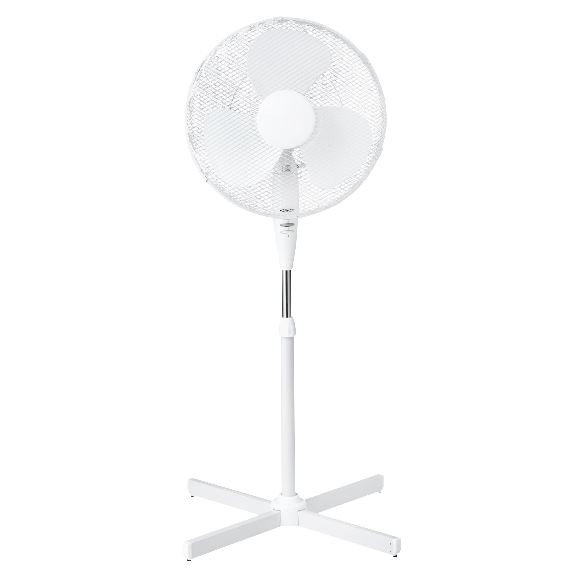 White 16 Inch Pedestal Fan