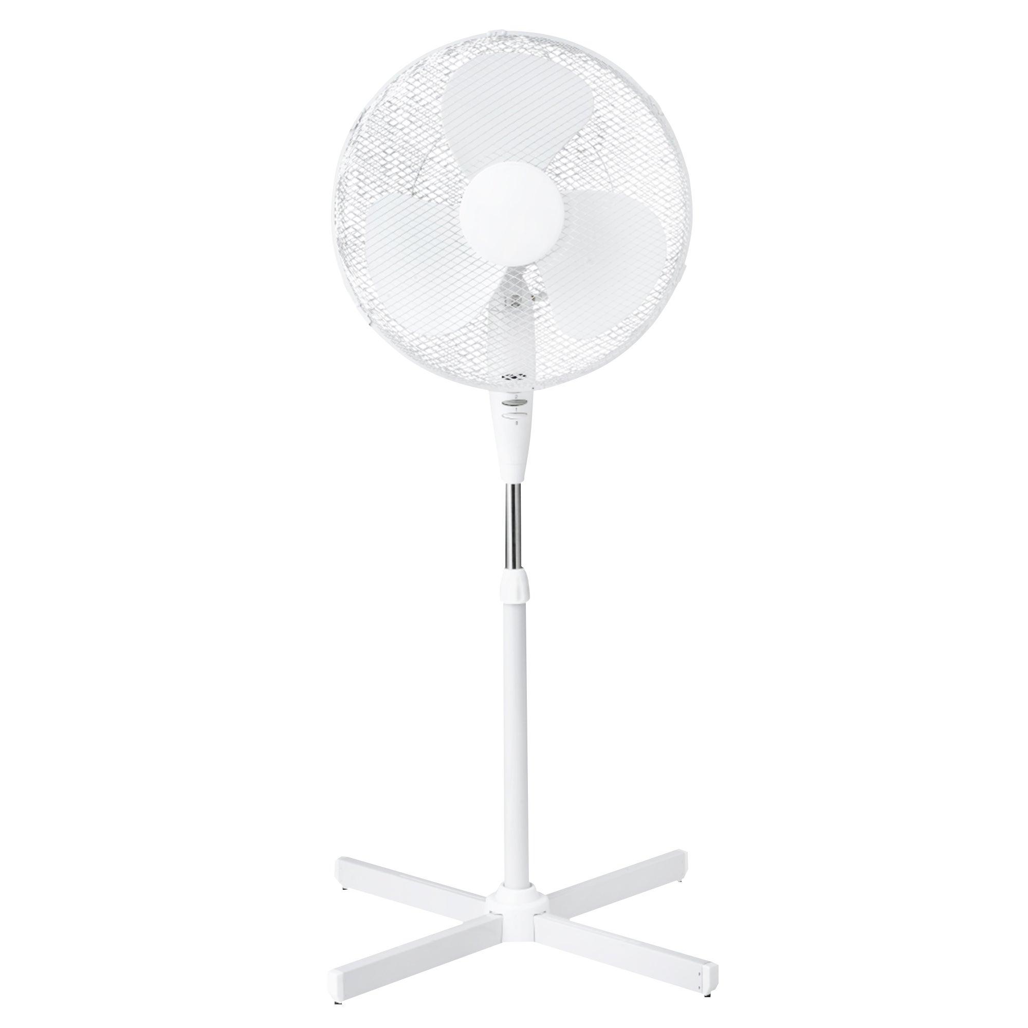 White 16 Inch Pedestal Fan