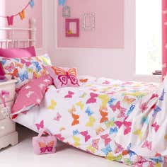 Kids Bright Butterflies Duvet Cover Set