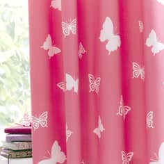 Kids Bright Butterflies Blackout Eyelet Curtains