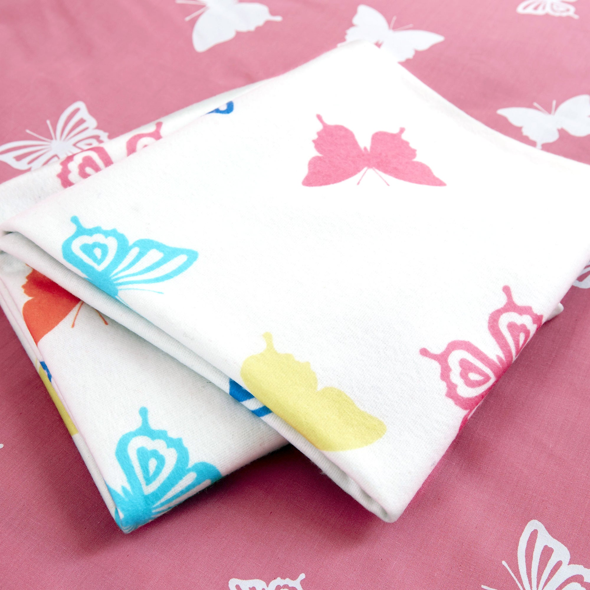 Kids Bright Butterflies Collection Fleece Throw