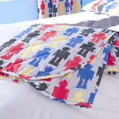Kids Robot Collection Bedspread