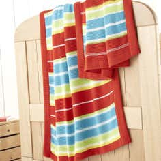 Kids Loveable Letters Collection Knitted Throw