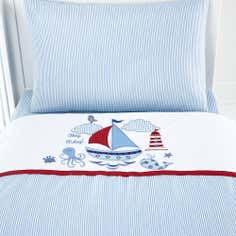 Kids Nautical Nursery Collection Cot Bed Quilt Set