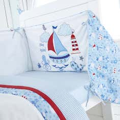 Kids Nautical Nursery Collection Coverlet and Bumper