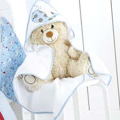 Kids Nautical Nursery Collection Cuddle Robe and Mitt