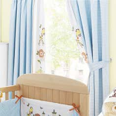 Kids Sweet Safari Blackout Pencil Pleat Curtains