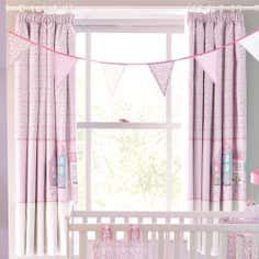 Kids Pink Up and Away Blackout Pencil Pleat Curtains