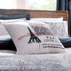 Charcoal La Tour Eiffel Collection Cushion