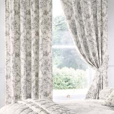 Grey Frances Thermal Pencil Pleat Curtains