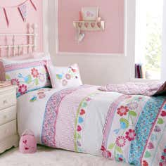 Kids Pink Songbird Collection Single Bedding Set