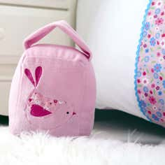 Kids Pink Songbird Collection Soft Doorstop