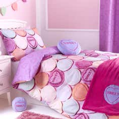 Kids Pink Sweetie Loveheart Collection Bed Set