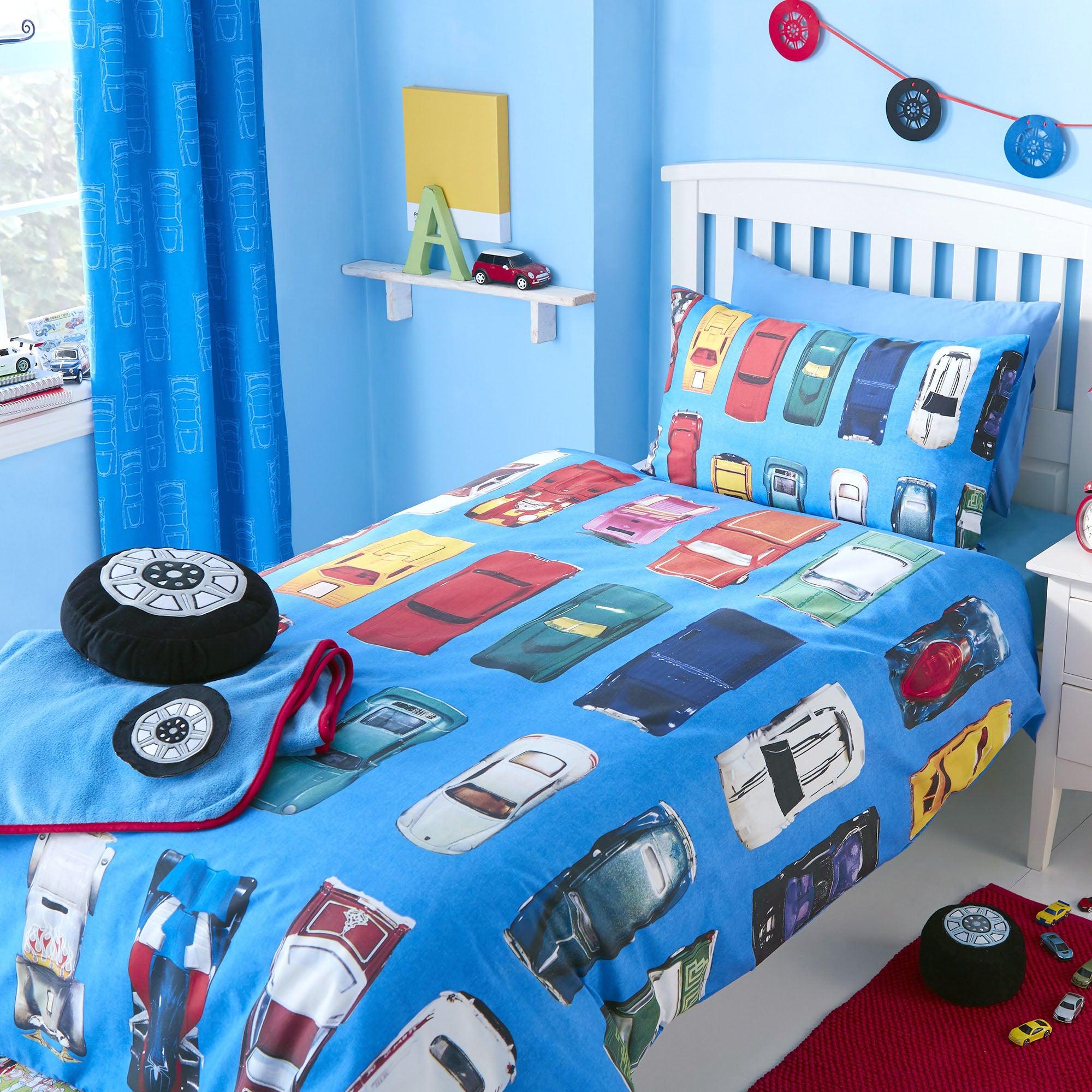 Kids Wacky Wheels Collection Single Duvet Cover Set