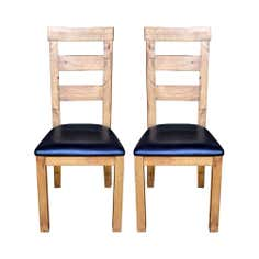 Loxley Pine Pair of Dining Chairs