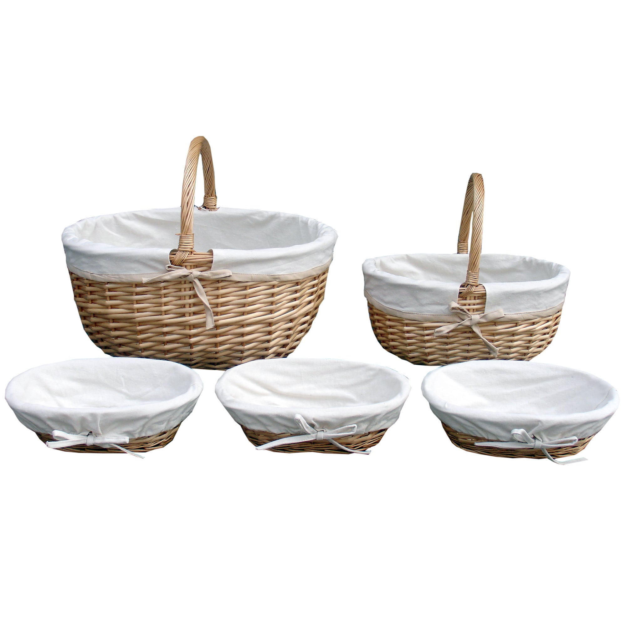 Farmstead Collection Willow and Canvas Basket