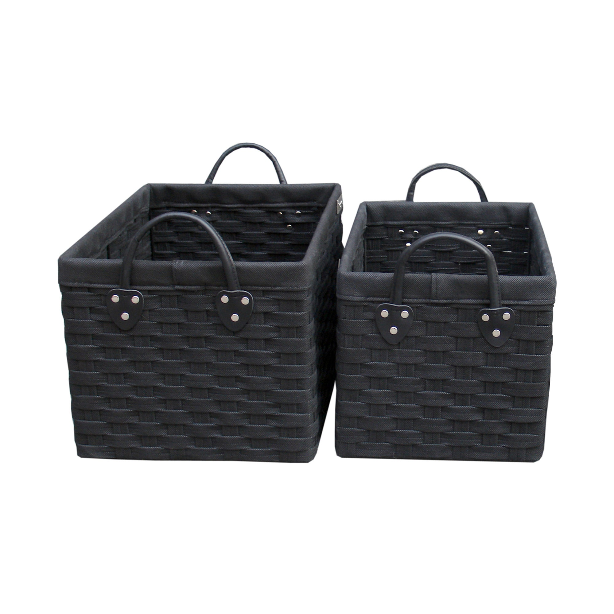 Black Woven Storage Baskets