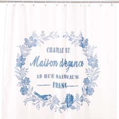 Chateau Blue Collection Shower Curtain