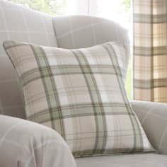 Green Balmoral Collection Checked Cushion