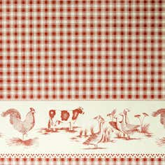 Animal Gingham PVC Fabric