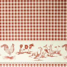 Animal Gingham PVC Fabric