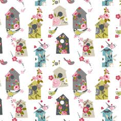 Floral Birdhouse Fabric