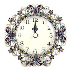 Flora and Fauna Collection Jewelled Butterfly Clock