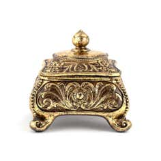 Gold Jazz Age Collection Trinket Pot