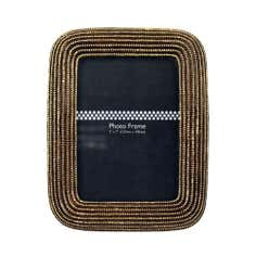 Jazz Age Beaded Photo Frame Gold