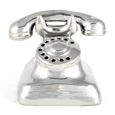 Silver Jazz Age Collection Ceramic Telephone