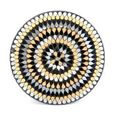 Jazz Age Collection Decorative Mosaic Glass Plate