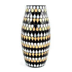 Jazz Age Mosaic Glass Vase