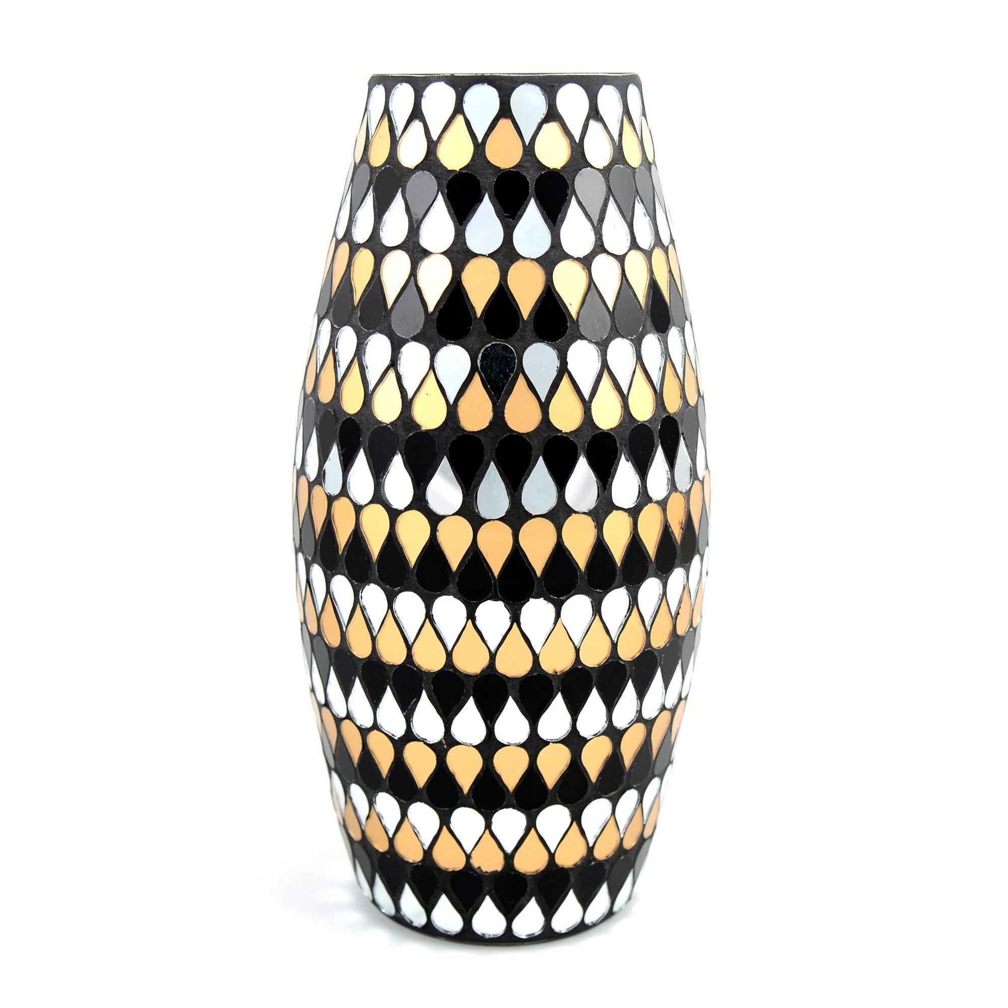 Jazz Age Mosaic Glass Vase