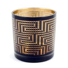 Jazz Age Collection Black and Gold Tea Light Holder