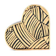 Jazz Age Collection Black and Gold Ceramic Heart