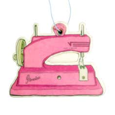 Lemon and Lime Sewing Machine Air Freshener