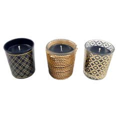 Jazz Age Votive Candle Trio