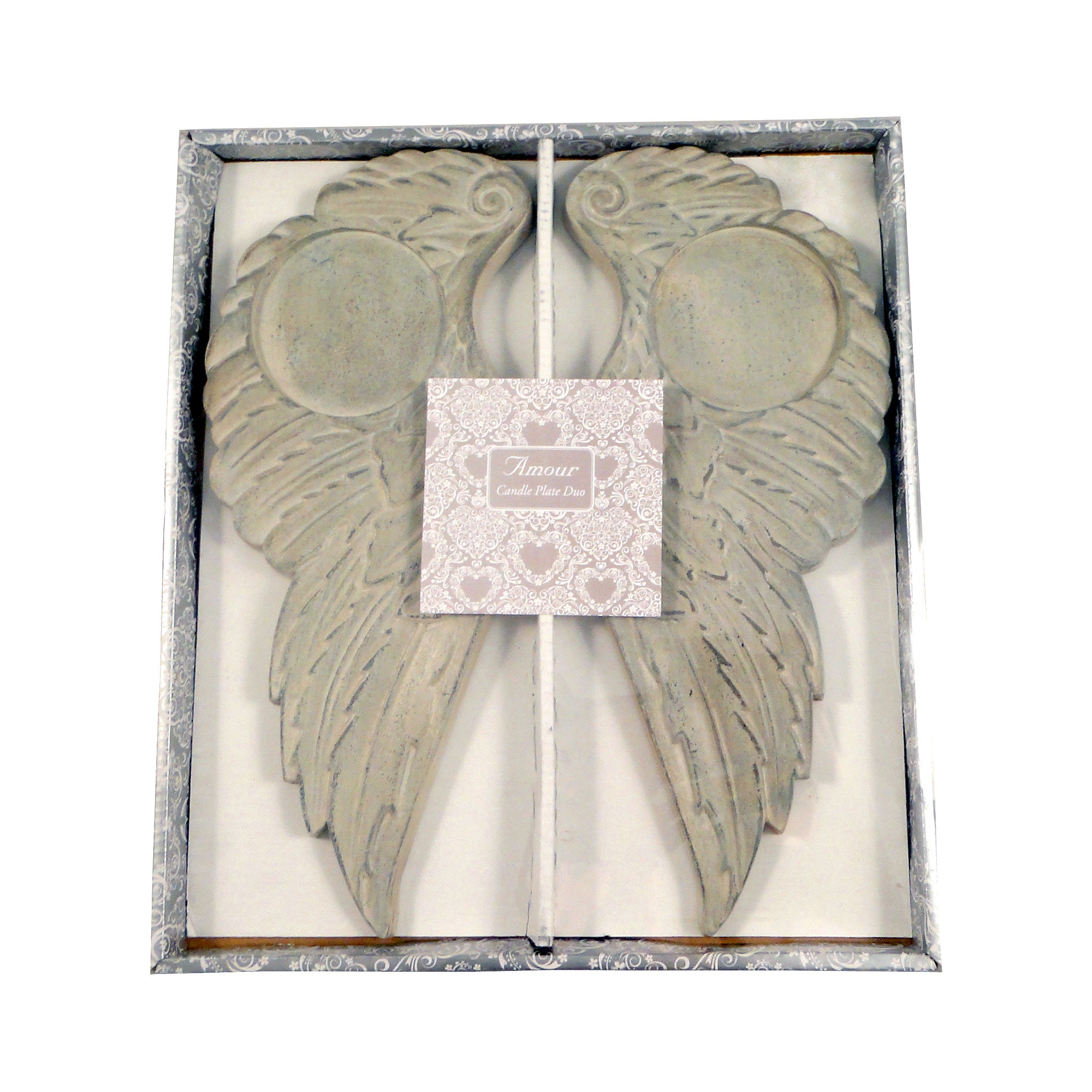 Wedding Collection Angel Wing Candle Plate