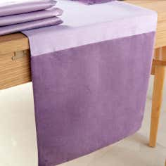Lilac Sharis Table Runner