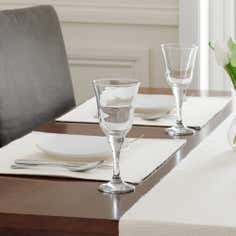 Cream Ribbed Placemat